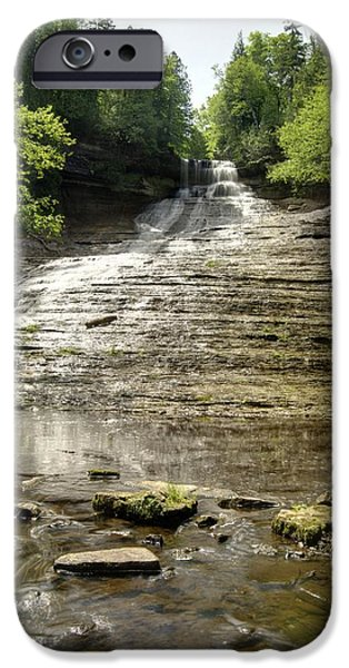 Chatham iPhone Cases - Laughing Whitefish Falls iPhone Case by Michael Peychich