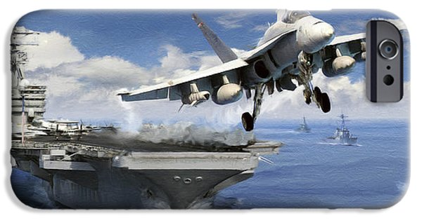 F-18 iPhone Cases - Launch iPhone Case by Dale Jackson