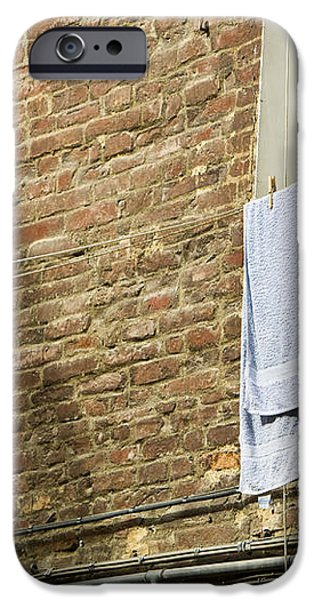 Laundry Hanging from Line, Tuscany, Italy iPhone Case by Paul Edmondson