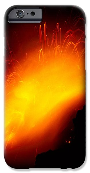 Lava And Steam iPhone Case by Peter French - Printscapes