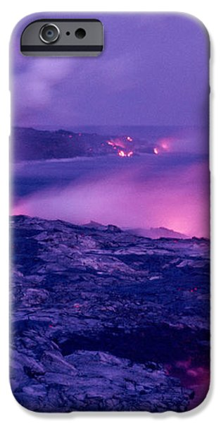 Lava Flows To The Sea iPhone Case by Mary Van de Ven - Printscapes