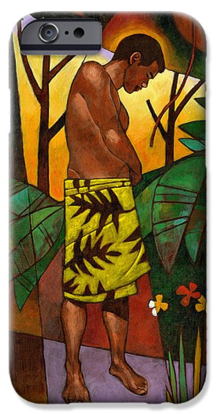 Figures iPhone Cases - Lavalava iPhone Case by Douglas Simonson