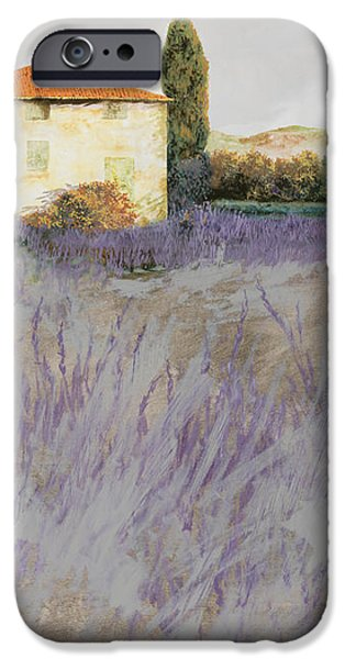 lavender iPhone Case by Guido Borelli