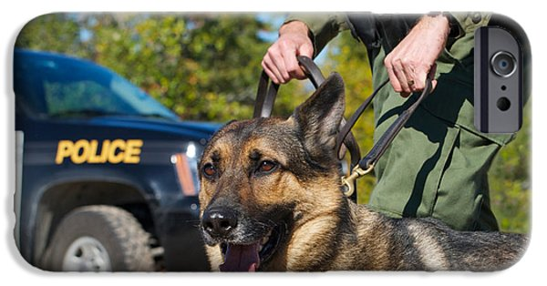 Police Dog iPhone Cases - Law Enforcement. iPhone Case by Kelly Nelson