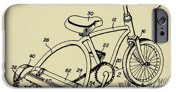 Mower iPhone Cases - Lawnmower Tricycle Patent iPhone Case by Bill Cannon