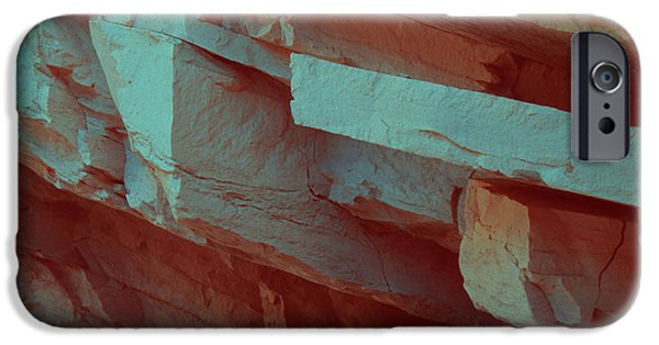 Rural Landscapes iPhone Cases - Layers of Rock iPhone Case by Naxart Studio