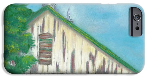 Barn Landscape Pastels iPhone Cases - Layers of Years Gone By iPhone Case by Arlene Crafton