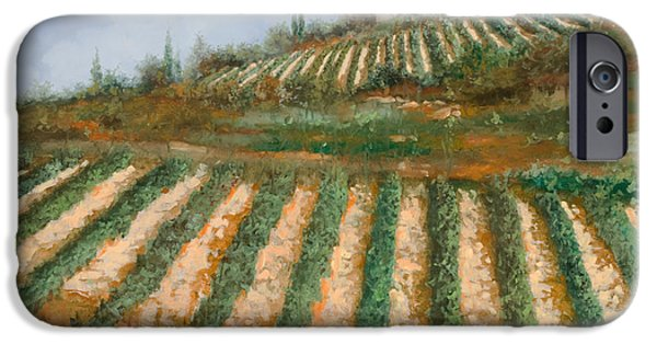Harvest iPhone Cases - Le Case Nella Vigna iPhone Case by Guido Borelli