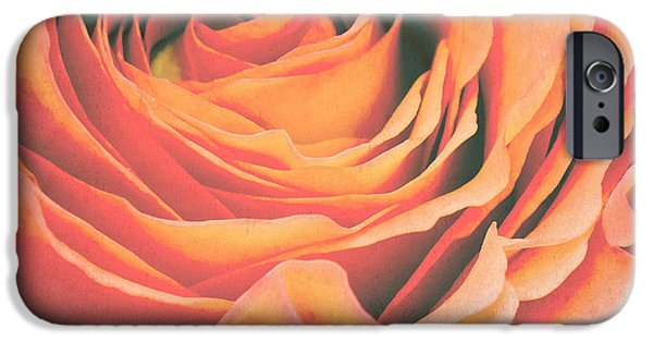 Flora Mixed Media iPhone Cases - Le petale de rose iPhone Case by Angela Doelling AD DESIGN Photo and PhotoArt