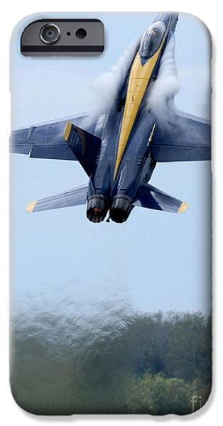 Hornet iPhone Cases - Lead Solo Pilot Of The Blue Angels iPhone Case by Stocktrek Images