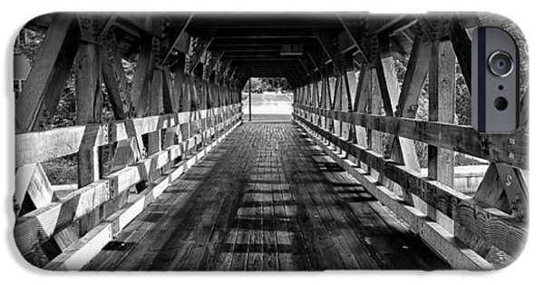 Covered Bridge iPhone Cases - Leading Lines iPhone Case by Lauri Novak