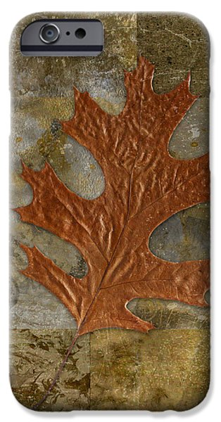 Leaf Life 01 -Brown 01b2 iPhone Case by Variance Collections