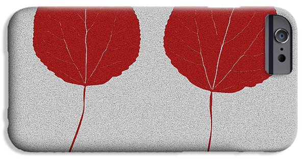 Mural Mixed Media iPhone Cases - Leafs rouge iPhone Case by Bruce Stanfield