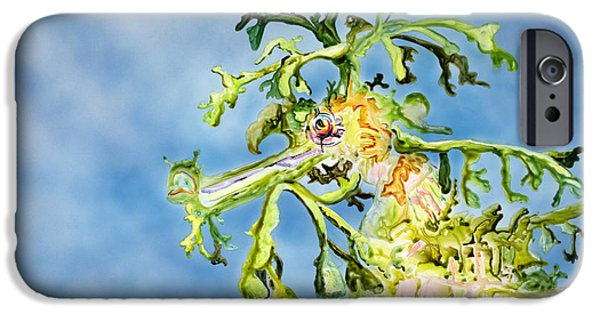 Strange iPhone Cases - Leafy Sea Dragon iPhone Case by Tanya L Haynes - Printscapes