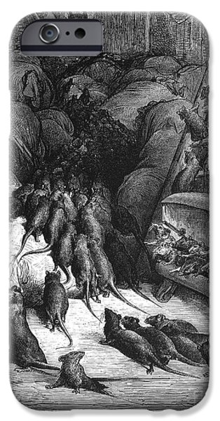 LEAGUE OF RATS, 1868 iPhone Case by Granger