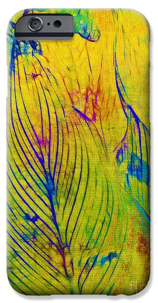 Leaves in the Jungle iPhone Case by Judi Bagwell