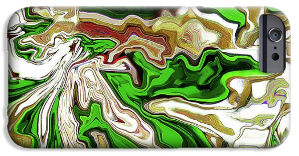 Soil Digital Art iPhone Cases - Leaves  iPhone Case by Molly McPherson