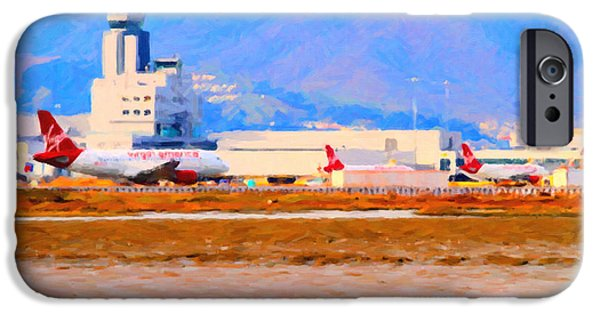 Boeing 747 iPhone Cases - Leaving On A Jet Plane . 7D12335 iPhone Case by Wingsdomain Art and Photography