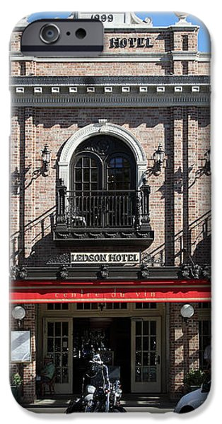 Ledson Hotel - Downtown Sonoma California - 5D19268 iPhone Case by Wingsdomain Art and Photography