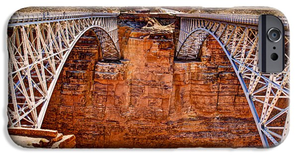 Northern Arizona iPhone Cases - Lees Ferry Bridges iPhone Case by Jon Berghoff