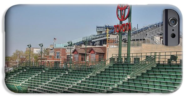 Wrigley iPhone Cases - Left field bleachers iPhone Case by David Bearden