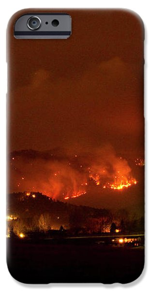 Lefthand Canyon Wildfire Boulder County Colorado 3-11-2011 iPhone Case by James BO  Insogna
