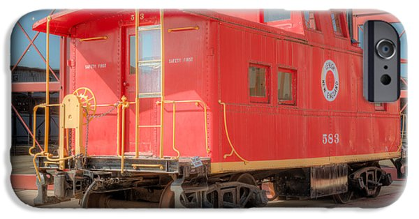 Historic Site iPhone Cases - Lehigh and New England Caboose iPhone Case by Clarence Holmes