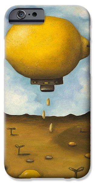 Lemon Drops iPhone Case by Leah Saulnier The Painting Maniac