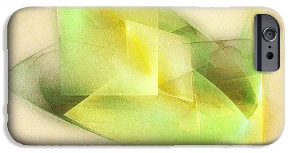 Fractals iPhone Cases - Lemon Lime iPhone Case by Scott Norris