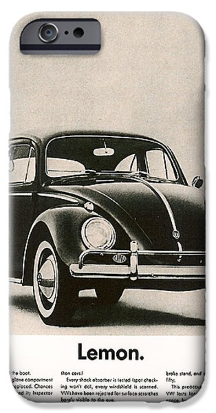 Vintage Cars iPhone Cases - Lemon iPhone Case by Nomad Art And  Design