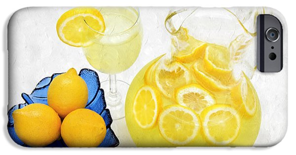 Healthy Mixed Media iPhone Cases - Lemonade And Summertime iPhone Case by Andee Design