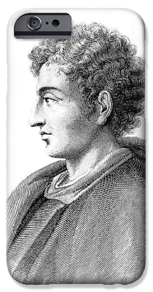 Painter Photographs iPhone Cases - LEONE BATTISTA ALBERTI (1404-1472). Italian mathematician, architect, painter, and writer. Stipple engraving, French, 1838 iPhone Case by Granger