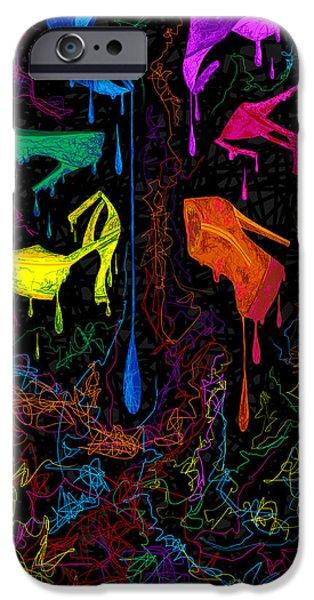 Kenal Louis iPhone Cases - Les couleur des chaussures Numero 1 iPhone Case by Kenal Louis