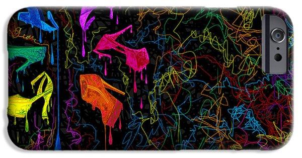 Kenal Louis iPhone Cases - Les couleur des chaussures Numero 2 iPhone Case by Kenal Louis