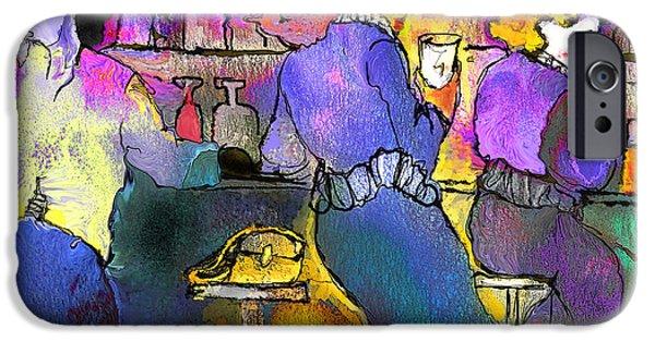 Prostitutes Paintings iPhone Cases - Les Filles du Cafe de La Nuit iPhone Case by Miki De Goodaboom