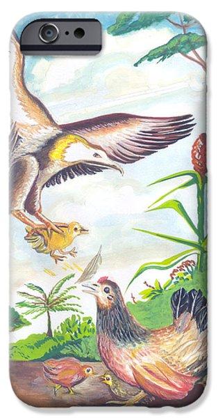 Animal Drawings iPhone Cases - Les poussins Tetus iPhone Case by Emmanuel Baliyanga