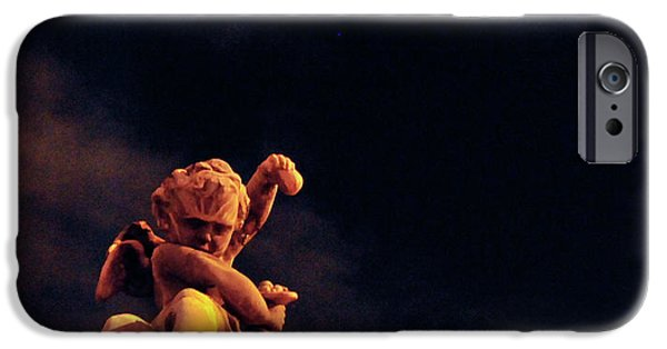Night Angel iPhone Cases - Lesser Angel iPhone Case by David Arment