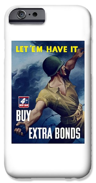 Ww1 iPhone Cases - Let em Have It iPhone Case by War Is Hell Store