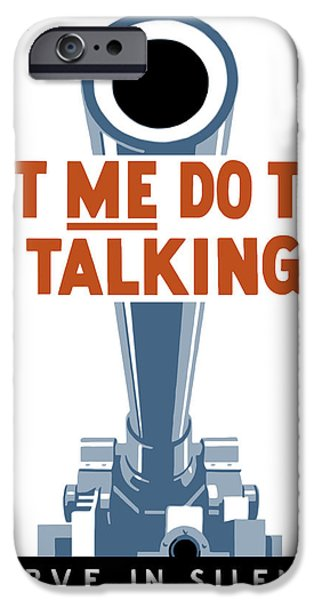 Americana iPhone Cases - Let Me Do The Talking iPhone Case by War Is Hell Store