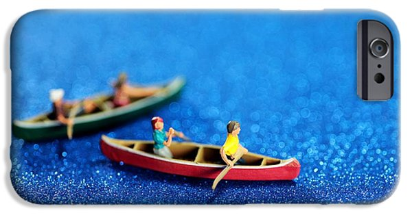 Toy Boat Digital Art iPhone Cases - Lets boating together iPhone Case by Paul Ge