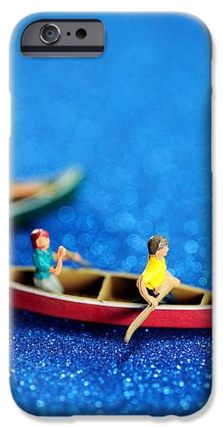 Let's boating together iPhone Case by Paul Ge