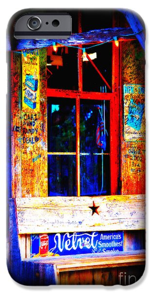 Let's go to Luckenbach Texas iPhone Case by Susanne Van Hulst