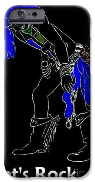 Lets Rock-black iPhone Case by Jeannie Atwater Jordan Allen