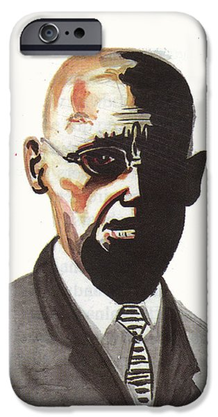 Electricity Drawings iPhone Cases - Lewis Howard Latimer iPhone Case by Emmanuel Baliyanga