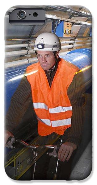 Lhc Tunnel, Cern iPhone Case by David Parker