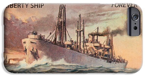 Liberty Photographs iPhone Cases - Liberty Ship Stamp iPhone Case by Heidi Smith
