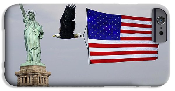 Old Glory iPhone Cases - Liberty Strength and Freedom iPhone Case by L Granville Laird