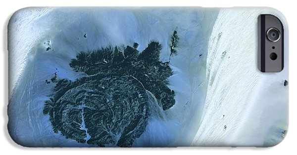 2000s iPhone Cases - Libyan Desert Outcrop, Satellite Image iPhone Case by Nasa
