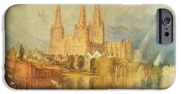 River View Paintings iPhone Cases - Lichfield iPhone Case by Joseph Mallord William Turner