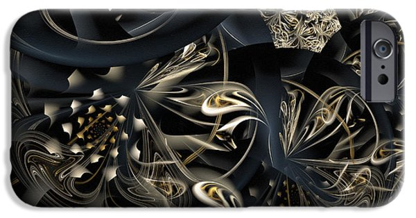 Asymmetrical Mixed Media iPhone Cases - Life And Complexity iPhone Case by Georgiana Romanovna